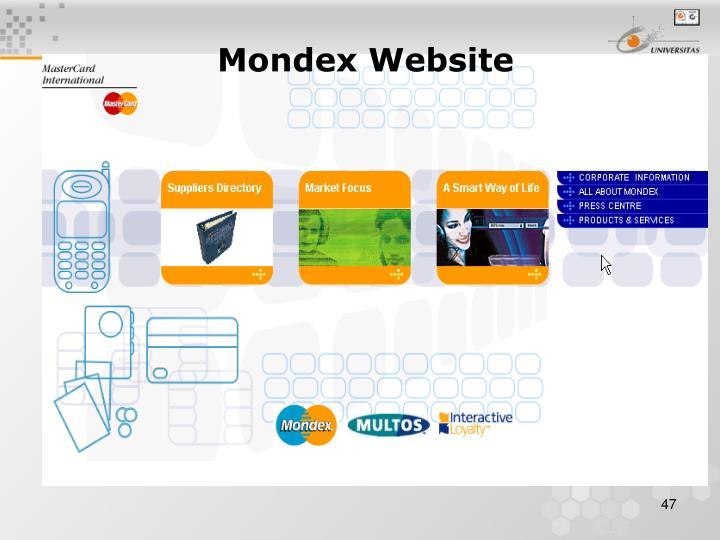 Mondex Website