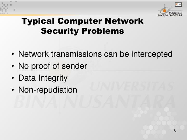Typical Computer Network Security Problems