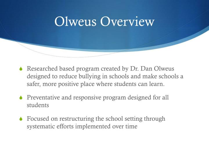 Olweus Overview