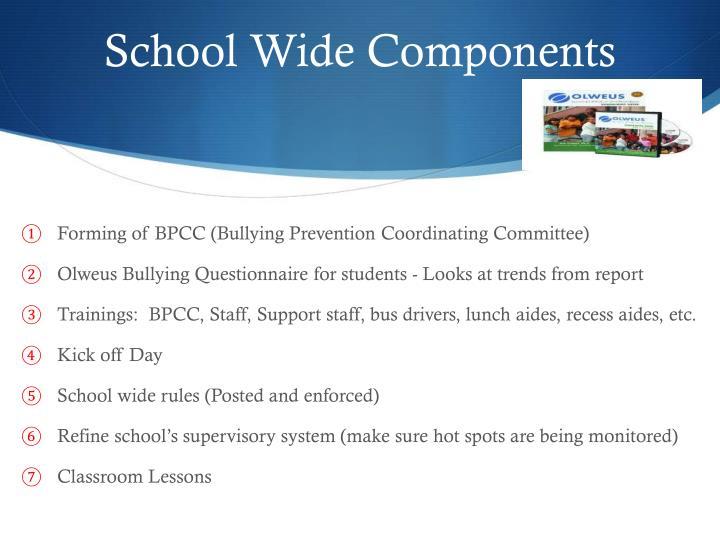 School Wide Components