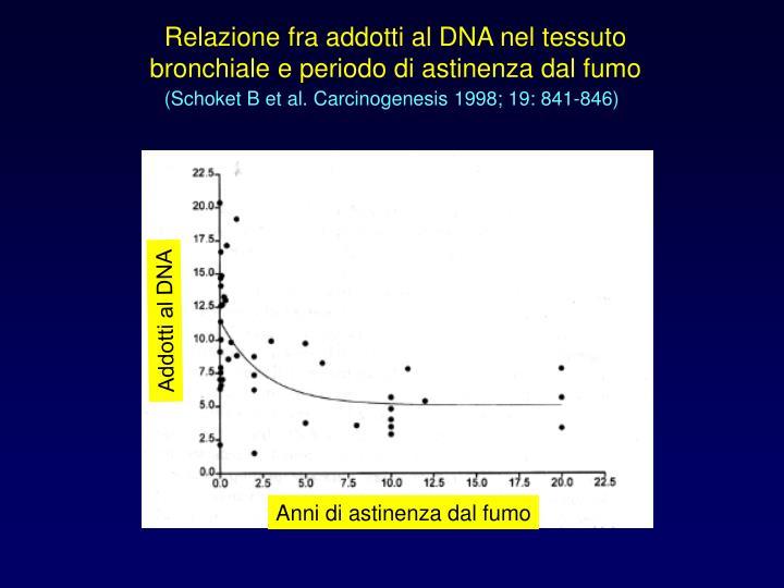 Relazione fra addotti al DNA nel tessuto