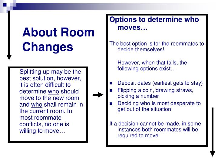 About Room Changes