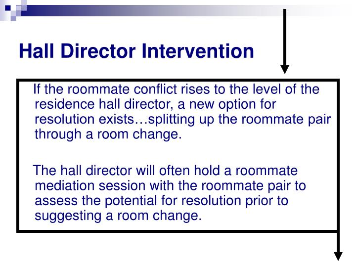 Hall Director Intervention