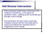 hall director intervention