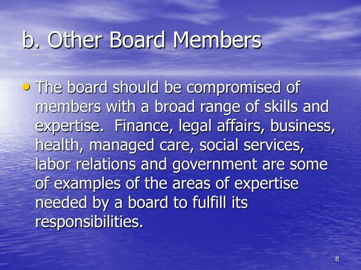 b. Other Board Members