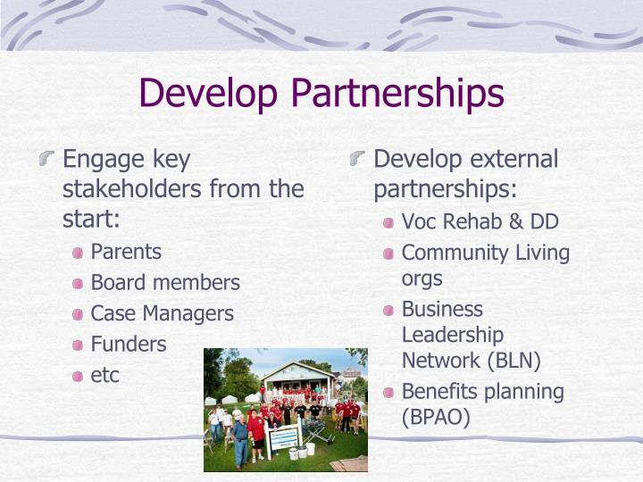 Develop Partnerships