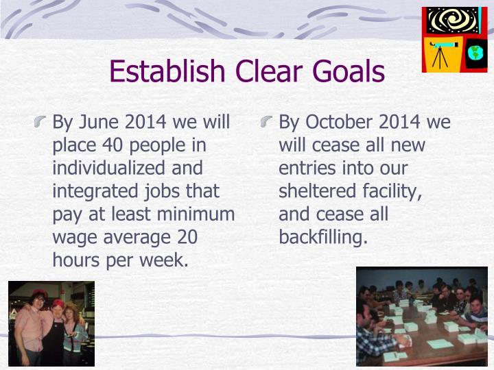 Establish Clear Goals