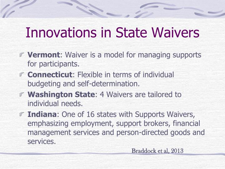 Innovations in State Waivers