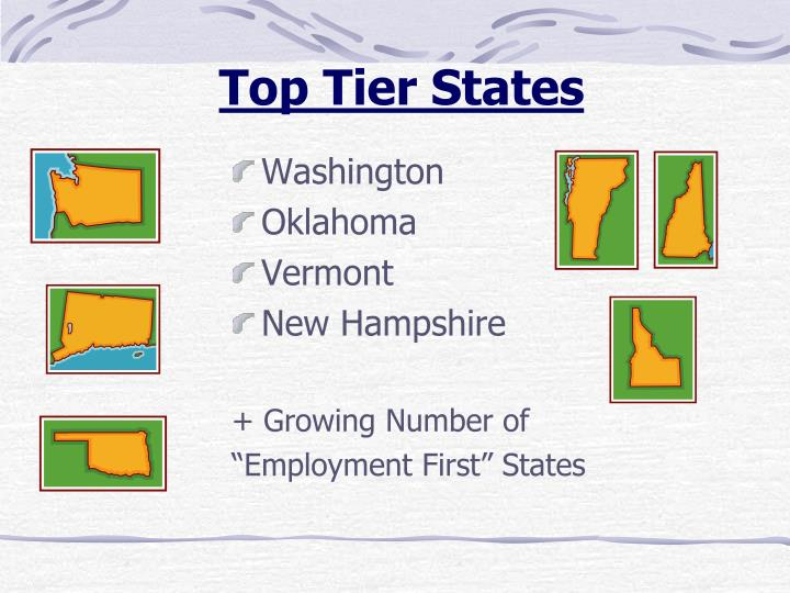 Top Tier States