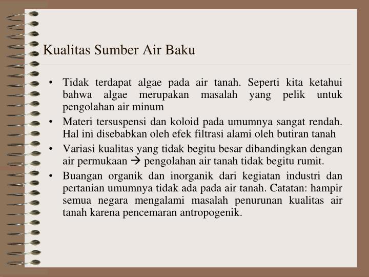 Kualitas Sumber Air Baku