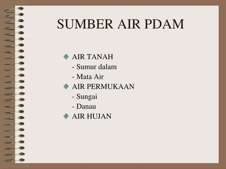 SUMBER AIR PDAM
