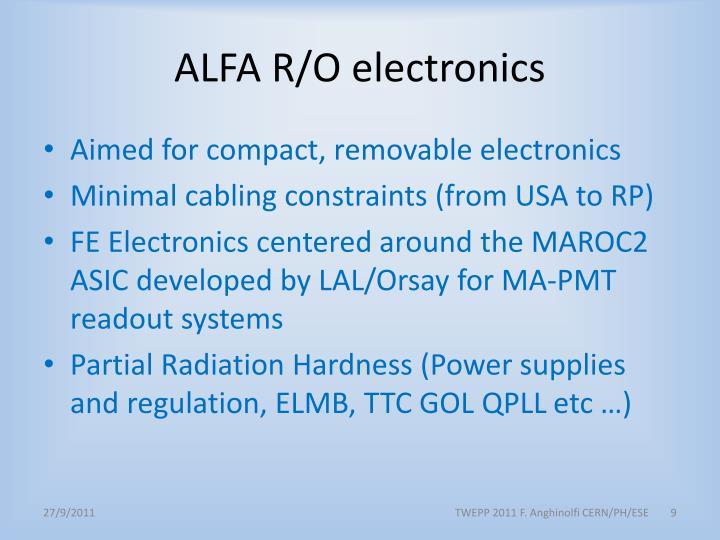 ALFA R/O electronics