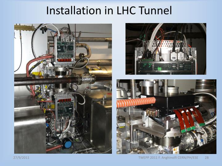 Installation in LHC Tunnel