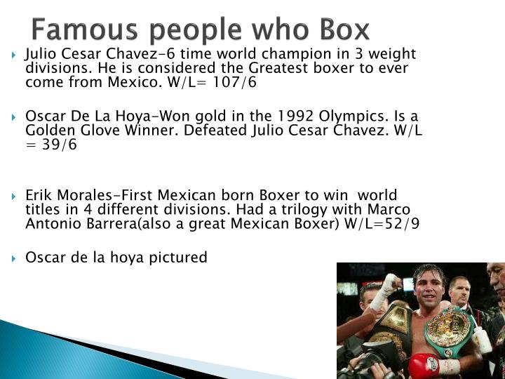 Famous people who Box