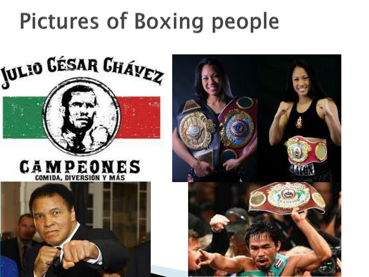 Pictures of Boxing people