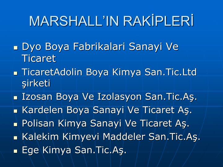 MARSHALL'IN RAKİPLERİ