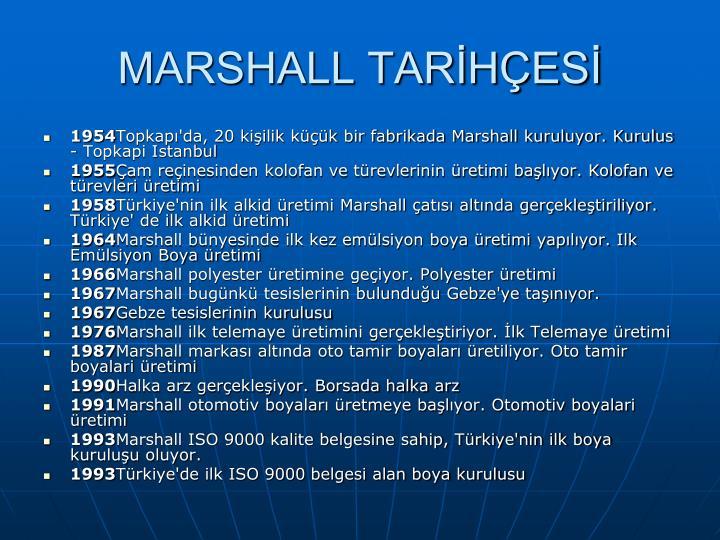 MARSHALL TARİHÇESİ
