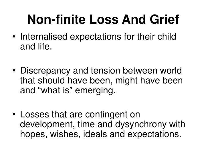 Non-finite Loss And Grief