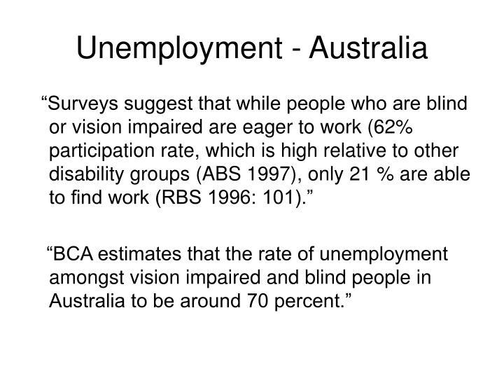 Unemployment - Australia