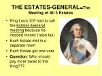 the estates general the meeting of all 3 estates