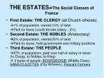 the estates the social classes of france