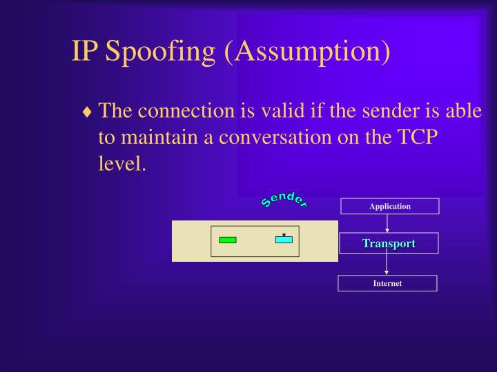 IP Spoofing (Assumption)