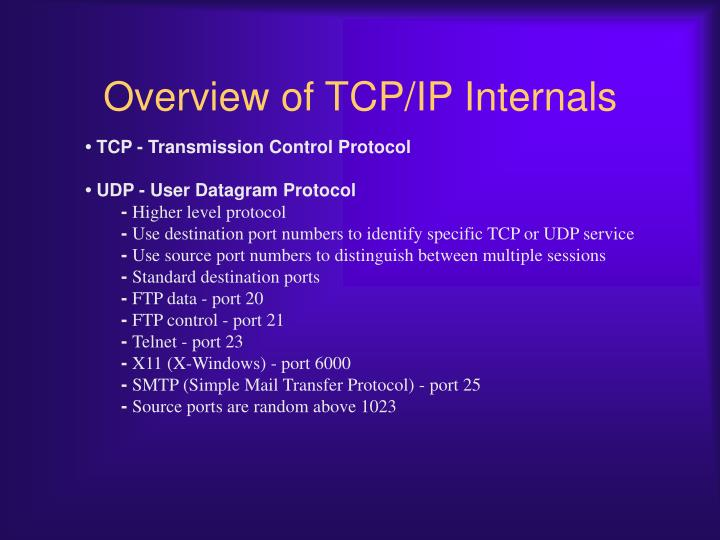 Overview of TCP/IP Internals