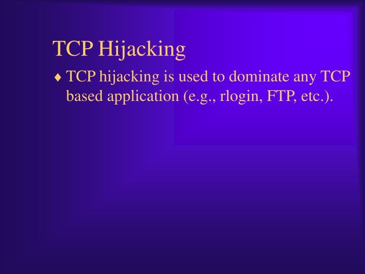 TCP Hijacking