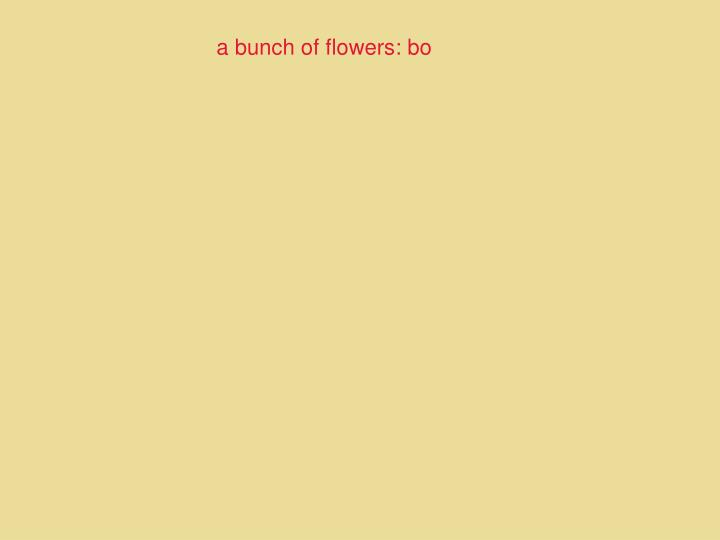 a bunch of flowers: bo