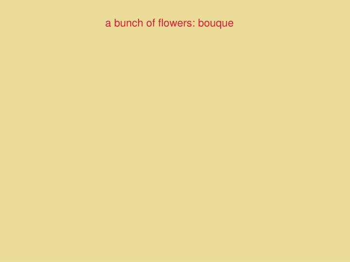 a bunch of flowers: bouque