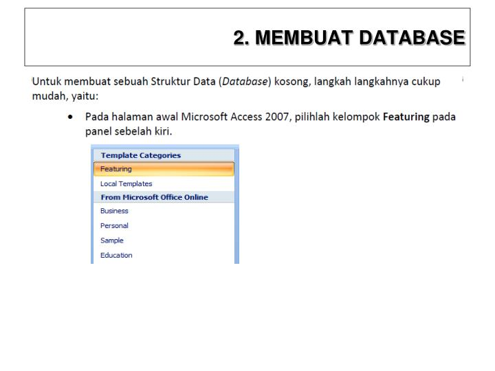 2. MEMBUAT DATABASE