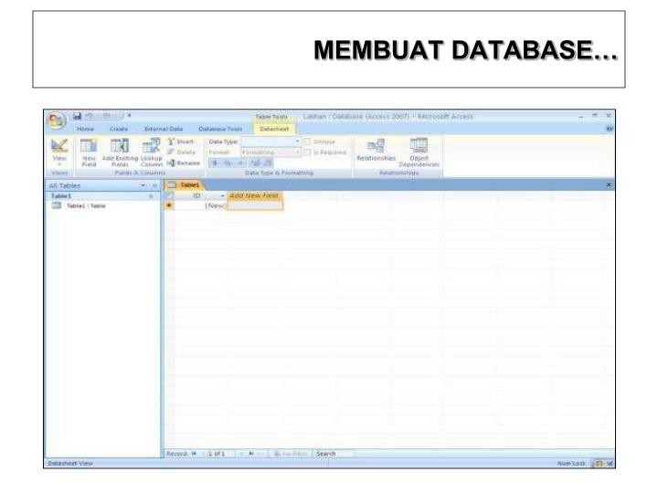 MEMBUAT DATABASE…