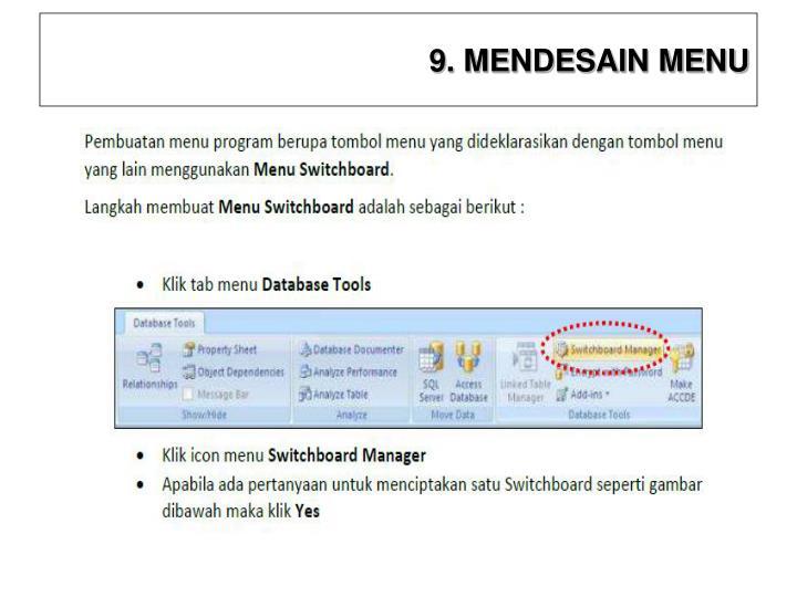 9. MENDESAIN MENU