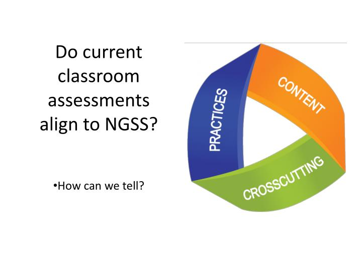 Do current classroom assessments align to NGSS?