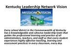 kentucky leadership network vision