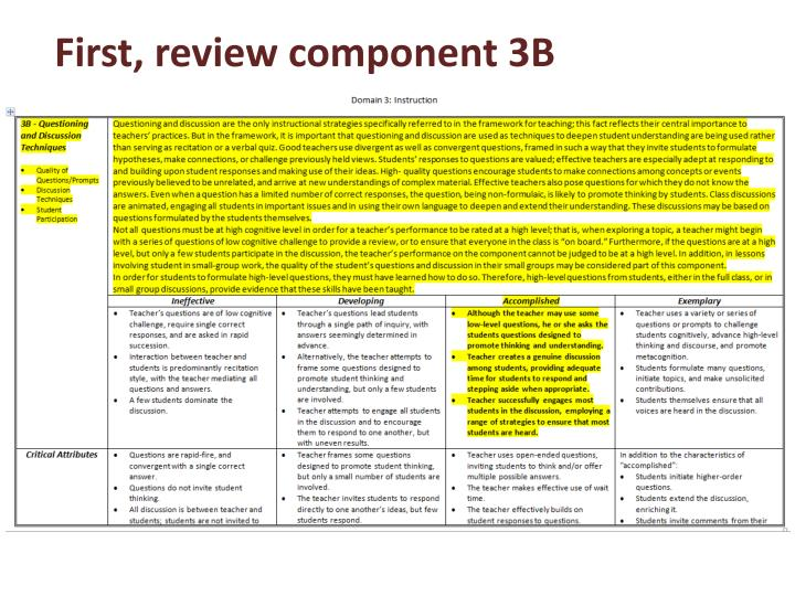 First, review component 3B