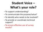 student voice what s your role