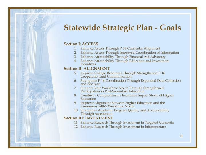 Statewide Strategic Plan - Goals
