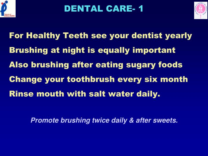 DENTAL CARE- 1