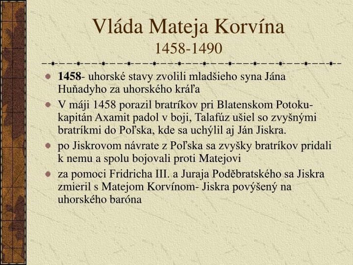 Vláda Mateja Korvína