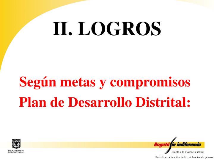 II. LOGROS
