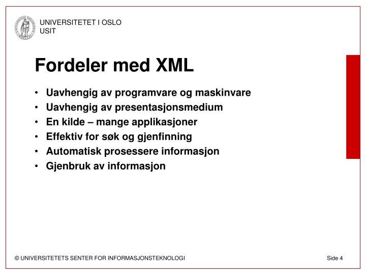 Fordeler med XML