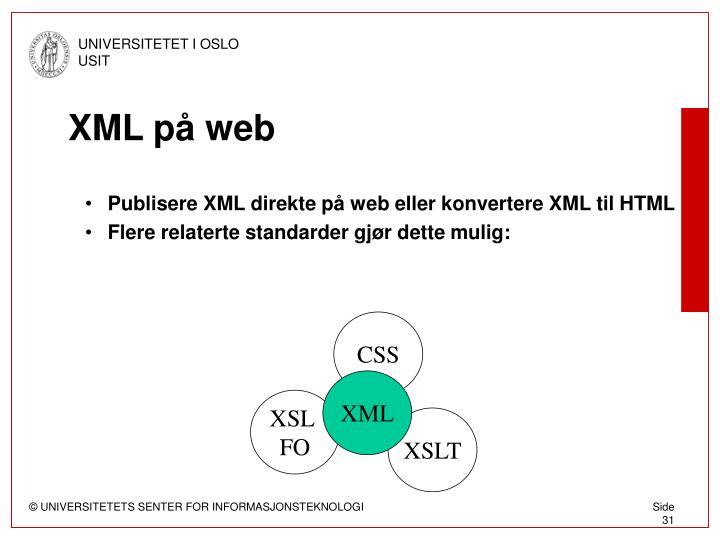XML på web