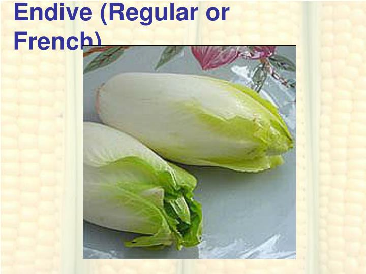 Endive (Regular or French)