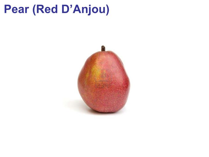 Pear (Red D'Anjou)