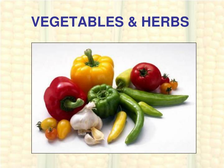 Vegetables herbs