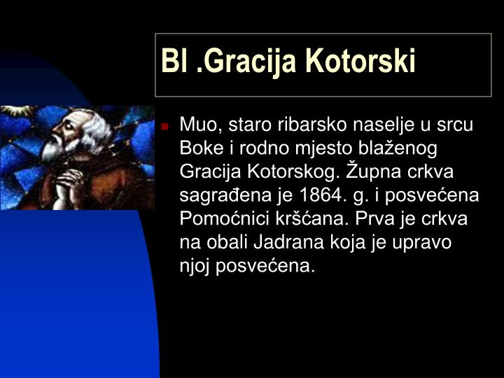 Bl .Gracija Kotorski