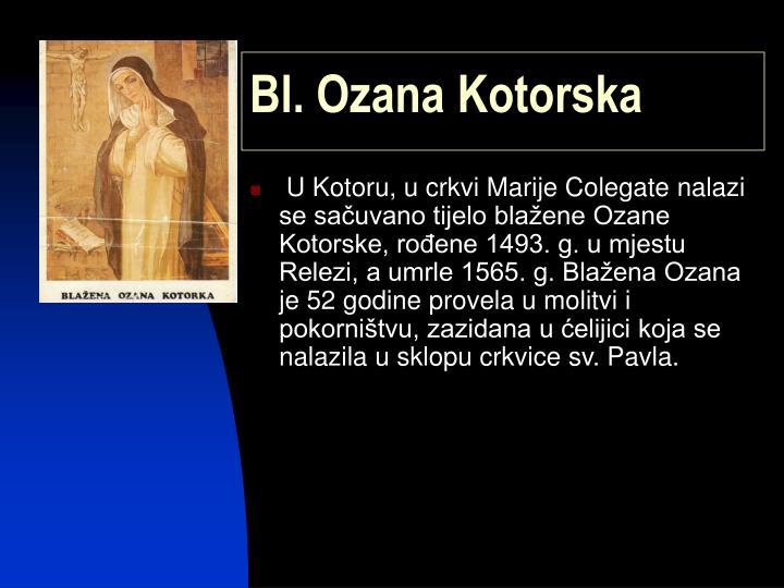 Bl. Ozana Kotorska