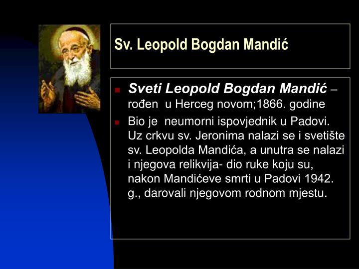 Sv. Leopold Bogdan Mandić