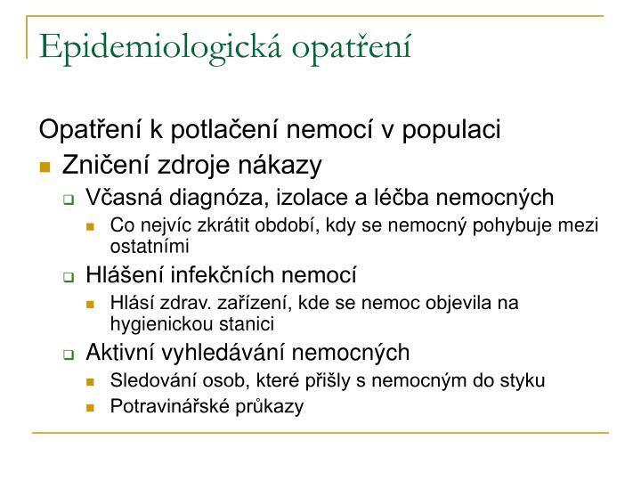 Epidemiologická opatření